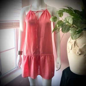 J. Crew Linen Coral Sundress/Blouse